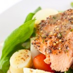 Maple Glazed Salmon Salad
