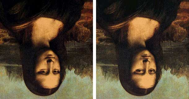 Image of Mona Lisa Optical Illusion