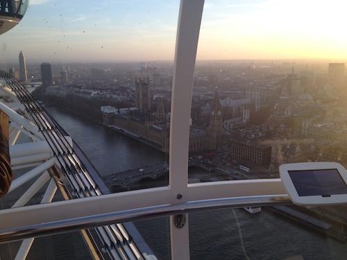 Big Ben. Inside The London Eye.